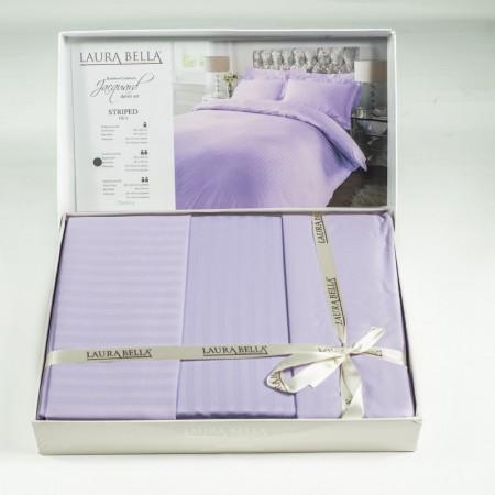 Луксозен спален комплект ЛИЛИЯ в нежно лилаво.