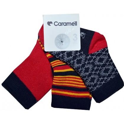 Луксозни бебешки чорапи 3 броя фирма КАРАМЕЛ.