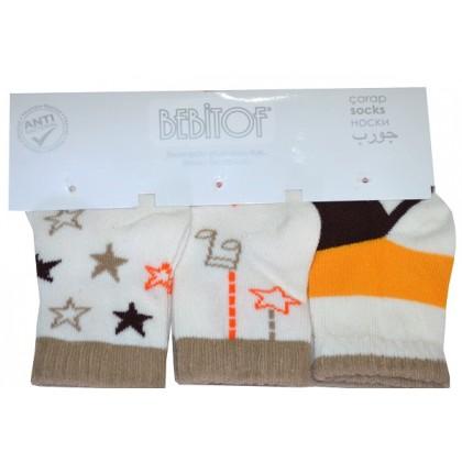 Бебешки чорапи 0-3 месеца КОД 02.