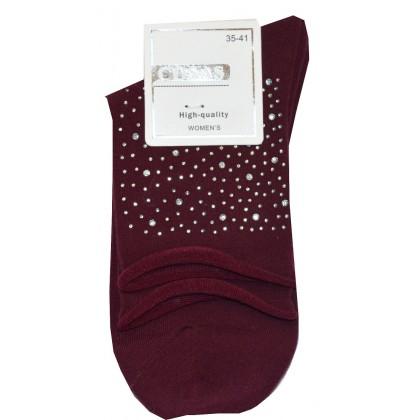 Дамски чорапи във винено червено КОД 01.