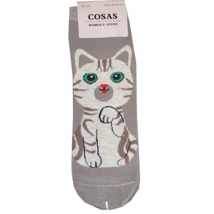Дамски чорапи КОТЕ 35-38 номер в сиво.