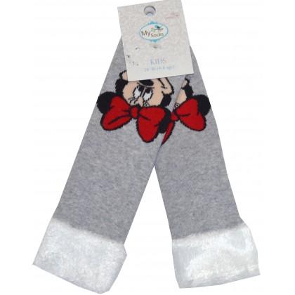 Термо, детски чорапи МИНИ МАУС 28-30 номер в сиво.