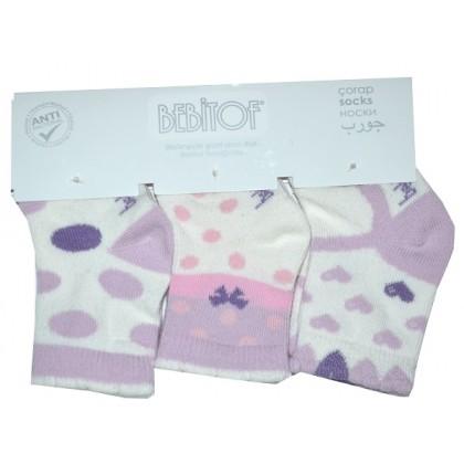 Бебешки чорапи 0-3 месеца КОД 06.