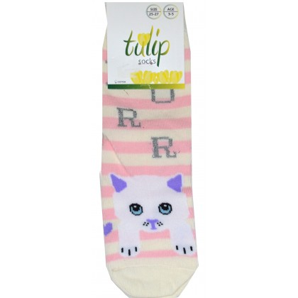 Детски чорапи BROSS КОТЕ 25-36 номер в розово рае.