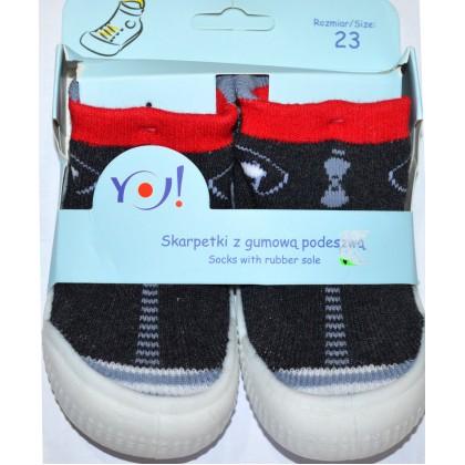 Детски чорапи с гумено ходило код 07.