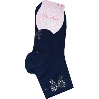 Ароматизирани детски чорапи 33-36 номер в тъмно синьо.