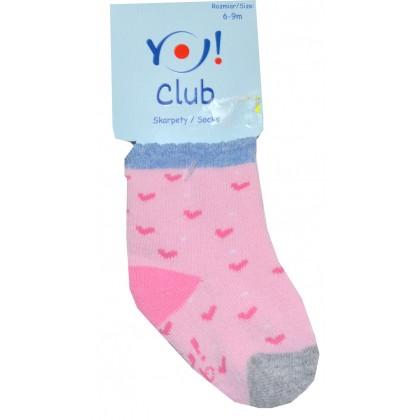 Бебешки термо чорапи СЪРЦЕ 6-9 месеца.