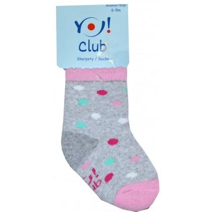 Бебешки термо чорапи ТОЧКИ 6-9 месеца КОД 01.