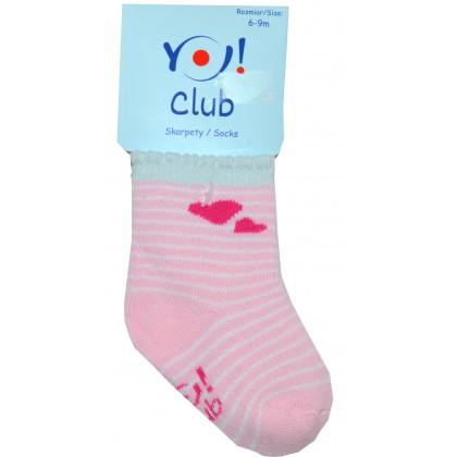 Бебешки термо чорапи СЪРЦЕ 6-9 месеца КОД 01.