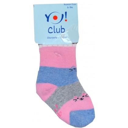 Бебешки термо чорапи КОТЕ 6-9 месеца.