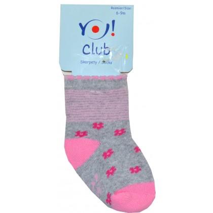 Бебешки термо чорапи ЦВЕТЯ 6-9 месеца.