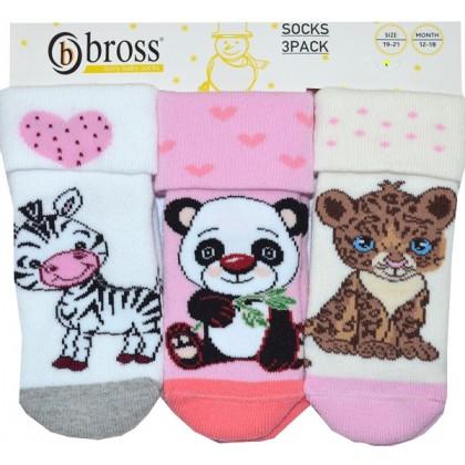 Бебешки термо чорапи ДЖУНГЛА 19-21 номер 3 броя.