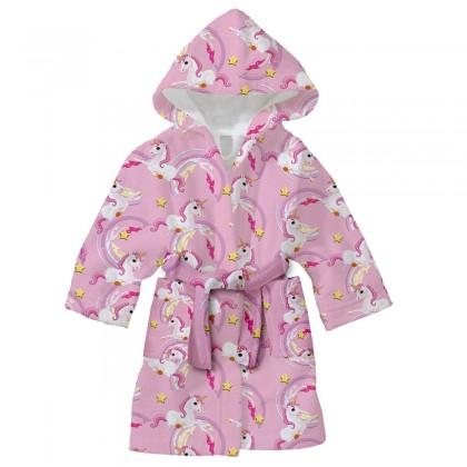Детски халат за баня ЕДНОРОГ 2-8 години.