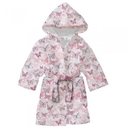 Детски халат за баня ПЕПЕРУДИ 2-8 години.