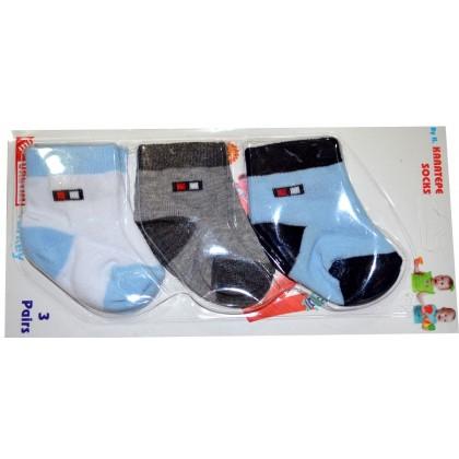 Бебешки чорапи YERLI 0-3 месеца.