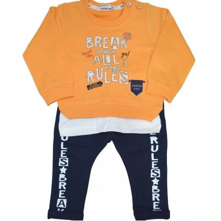 Бебешки анцуг BREAK ALL 68-92 ръст в жълто.