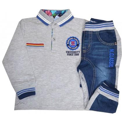 Детски комплект с дънков панталон 2 години.