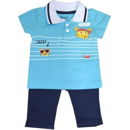 Бебешки комплект МОРСКИ 68-86 ръст в синьо.