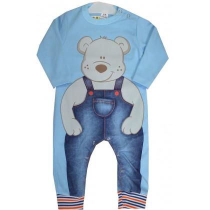 Бебешки гащеризон МЕЧО код 01 в синьо.