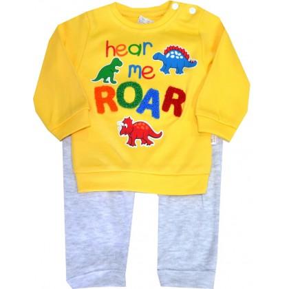 Бебешки комплект ROAR 1-9 месеца в жълто.