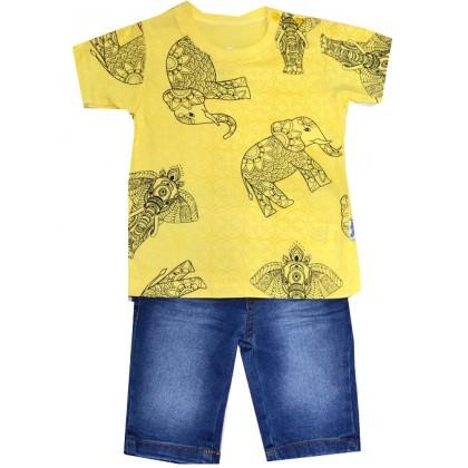 Детски комплект СЛОН 1-3 години в жълто.