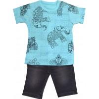 Детски комплект СЛОН 1-3 години в синьо.