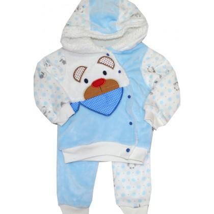 Бебешки термо комплект МЕЧЕ 56-68 ръст в синьо.