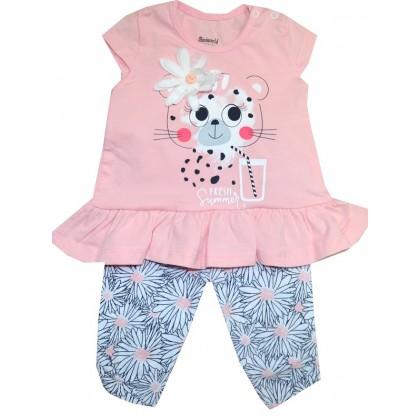 Детски комплект МАРГАРИТКА 3-12 месеца в розово.