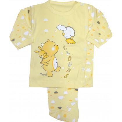 Бебешки комплект МЕЧО 0-3 месеца в жълто.