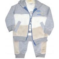 Бебешки комплект VIKING 68-80 ръст в сиво.