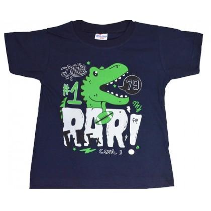 Детска блуза ДИНОЗАВЪР 2-5 години в тъмно синьо.