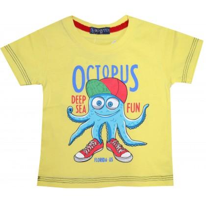 Детска блуза ОКТОПОД 86-104 ръст в жълто.