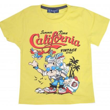 Детска блуза ПРИЯТЕЛИ 86-104 ръст в жълто.