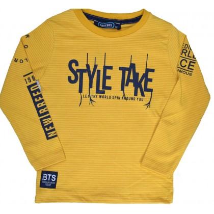 Детска блуза STYLE TAKE 2-6 години в жълто.