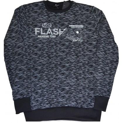 Ватирана юношеска блуза FLASHBACK 14-16 години в черно.