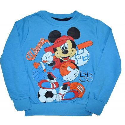 Детска блуза МИКИ МАУС 86-104 ръст в синьо.