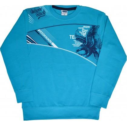 Детска блуза DANGEROUS 7-10 години в синьо.