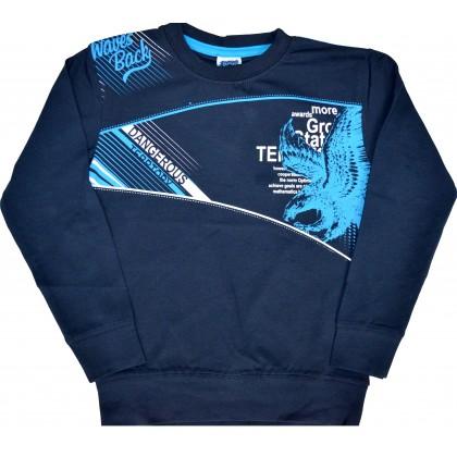 Детска блуза DANGEROUS 7-10 години в тъмно синьо.