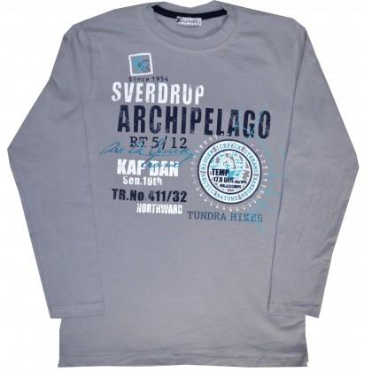 Детска блуза ARCHIPELAGO 152-176  ръст в сиво.