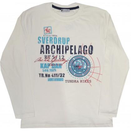 Детска блуза ARCHIPELAGO 152-176  ръст в крем.