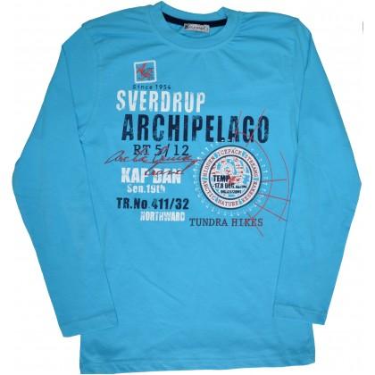 Детска блуза ARCHIPELAGO 152-176  ръст в синьо.