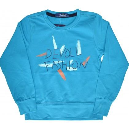 Детска блузa DEVOL FASHION 92-110 ръст в синьо.