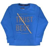 Детска блуза TRUST BEST 116-134 ръст в синьо.