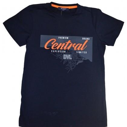 Юношеска блуза CENTRAL 7-11 години в тъмно синьо.
