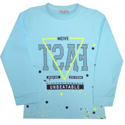 Детска блуза BEST 2-5 години в светло синьо.