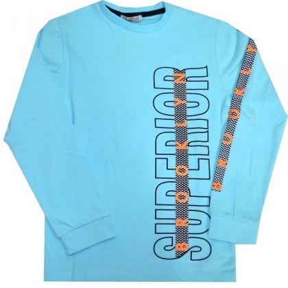 Юношеска блуза NEW 7-12 години в светло синьо.