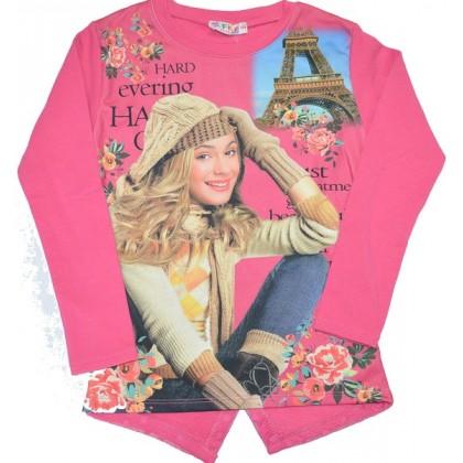 Ватирана детска блуза ВИОЛЕТА 6-7 години в диня.