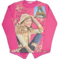 Ватирана детска блуза ВИОЛЕТА 7-8 години в циклама.