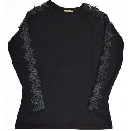 Юношеска блуза ЧЕРНА 12-16 години.