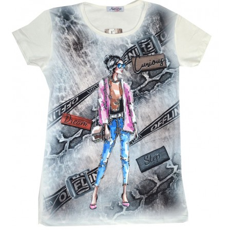 Юношеска блуза МОМИЧЕ С ОЧИЛА 12-16 години.